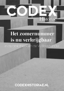 Poster zomernummer Codex Historiae, thema Vergeten Verleden van de Tweede Wereldoorlog
