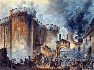 La prise de la Bastille (1789) door Jean-Pierre Houël