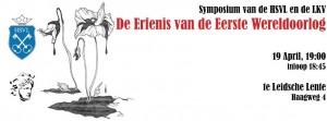 Symposium De erfenis van de Eerste Wereldoorlog
