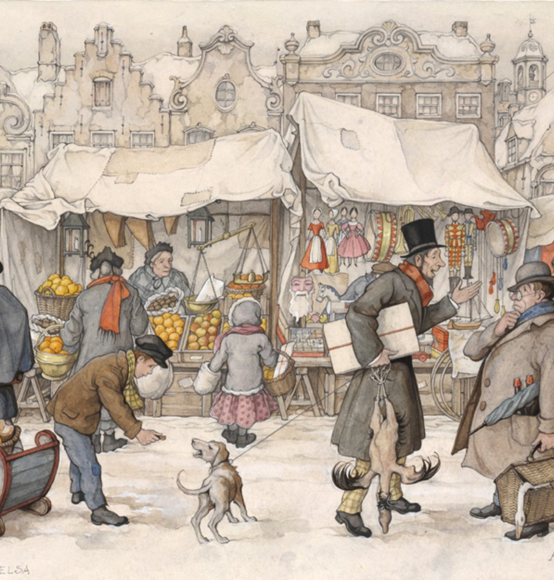 Winter door Anton Pieck