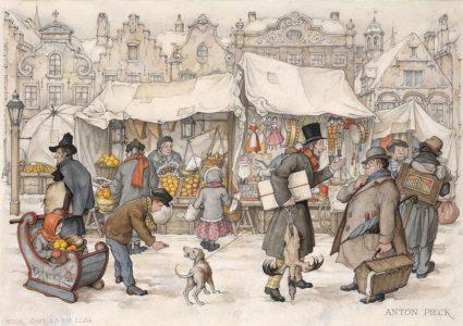 Winter door Anton Pieck