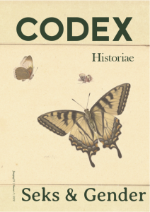 Cover themanummer Seks & Gender CODEX Historiae